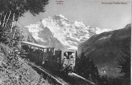 SCHYNIGE PLATTE BAHN - Vollbesetzte Bahn Vor Der Jungfrau, Ca.1910 - BE Bern