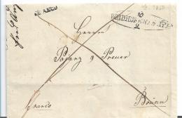 AV092 /- ÖSTERREICH -  Waidhofen TPDS 1850 FRANCO Nach Brünn - ...-1850 Préphilatélie