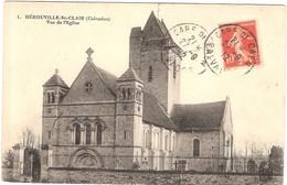 CPA Herouville Saint St Clair Vue De L'Eglise  14 Calvados - Herouville Saint Clair
