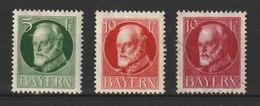 MiNr.: 112, 114 (2x).Deutschland Altdeutschland Bayern 1916, 1. Aug./1920, 4. März. Freimarken: König Ludwig III. - Bayern