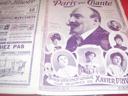 XAVIER PRIVAS FRANCINE LOREE DELPHIN EUGENIE BUFFET WAGUE  /PARIS QUI CHANTE - 1900 - 1949
