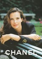 CHANEL N°5   Carole BOUQUET  Ambassadrice De N° 5         Double Flyer  2 Scans - Cartes Parfumées