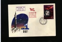 Russia SSSR 1971 Space / Raumfahrt SOYUZ 10 Interesting Cover - Lettres & Documents