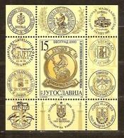Yougoslavie Joegoslavie 2000 Yvertn° Bloc 49 *** MNH  Cote 45,00 Euro Jufiz X Belgrado - Blocs-feuillets