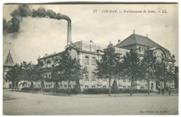 Colmar Etablissement De Bains Aux Villes De France Grosse Fumée 1924 - Colmar