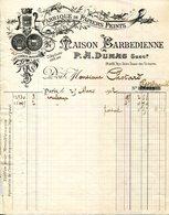 PARIS.FABRIQUE DE PAPIERS PEINTS.TOILES PEINTES.MAISON BARBEDIENNE 24 & 26 RUE NOTRE DAME. - Imprimerie & Papeterie