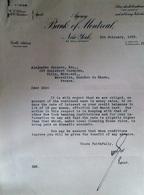 BANQUE BANK OF MONTRÉAL A NEW YORK 1932 POUR MARSEILLE 13007 COURRIER DE TRANSACTIONS BOURSIERE - Shareholdings