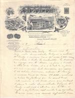 PARIS , LE THEIL , MASLES , ORNE - ENTÊTE LITHOGRAPHIE - PAPIERS A CIGARETTES - PAPIERS ABADIE - LETTRE - 190? - Imprimerie & Papeterie