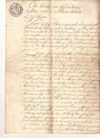 Brief Lettre Akte Notaire Notaris Zandhoven Manuscrit Manuscript 1815 Landbouwer Schilde Zoersel Oostmalle - Manuscripts