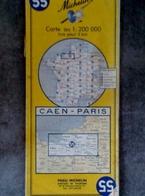 CARTE MICHELIN N°55 CAEN PARIS 1958 MAPS KARTE CARTOLINA MAPS - Cartes Routières