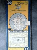 CARTE MICHELIN N°53 ARRAS MEZIERE 1958 MAPS KARTE CARTOLINA MAPS - Cartes Routières