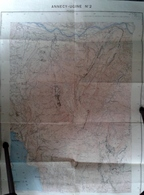 CARTE GÉOGRAPHIQUE ANNECY UGINE N 2 MAPS KARTE CARTOLINA MAPS - Cartes Géographiques