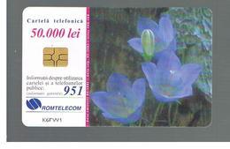 ROMANIA (ROMANIA) - 2001 FLOWERS            - USED  -  RIF. 10755 - Romania