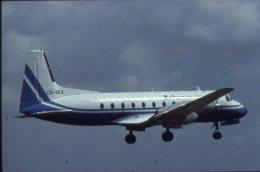 SLIDE / AVION / AIRCRAFT   KODAK  ORIGINAL BAHAMAS AIR  HS 748  C6-BEA - Diapositive