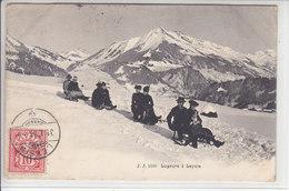 SPORTS D'HIVERS D'AUTREFOIS - SKI, SAUT A SKI,PATINAGE ETC - SOUVENIRS- LUGE A LEYSIN - 31.01.06 - Suisse