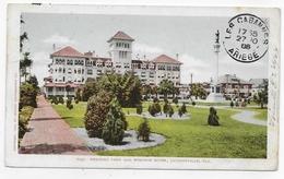 (RECTO / VERSO) JACKSONVILLE EN 1906 - N° 7097 - HEMMING PARK AND WINDSOR HOTEL - BEAU CACHET - CPA VOYAGEE - Jacksonville