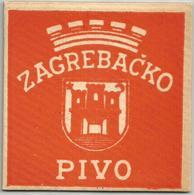 ZAGREBACKO PIVO Old Beer Coaster From Yugoslavia Croatia - Beer Mats