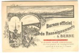 Bureau Officiel De Renseignements à Berne Type Gruss Aus Beau Graphisme Officielles Verkehrsbureau C 1900 - BE Berne