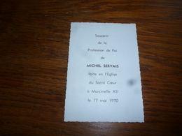 Souvenir Communion Marcinelle XII 1970 Michel Servais - Communion