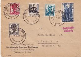 Brief 1949 Von Völklingen In Die Schweiz (br3109) - 1947-56 Protectorate