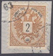 LEVANTE AUSTRIACO -  1883 - Yvert 8 Obliterato Su Frammento Di Busta. - Levant Autrichien