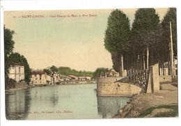 09 Saint Girons, Quai Champ De Mars Et Rive Droite (928) - Saint Girons