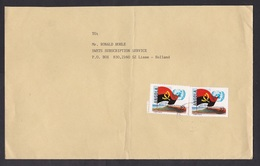 Angola: Cover To Netherlands, 1980s, 2 Stamps, Flag, United Nations, UN Membership, Rare Real Use (minor Damage) - Angola