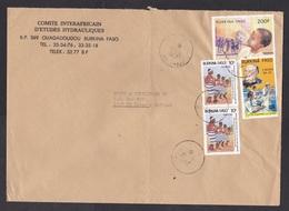 Burkina Faso: Cover To Netherlands, 1987, 4 Stamps, Child, Bobo Dance, Medicine, Rare Use (leprosy Stamp Damaged) - Burkina Faso (1984-...)