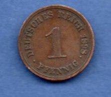 Allemagne    - 1 Pfennig 1898 G      - Km # 10-  état  TTB - [ 2] 1871-1918 : Empire Allemand