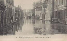 Boulogne Billancourt : Inondations De Janvier 1910 - Rue De Paris - Boulogne Billancourt