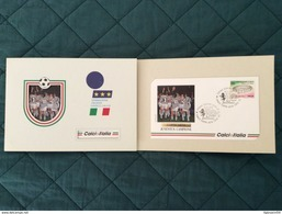 Folder Con Busta Ufficiale Geosport CalcioItalia Juventus Campione Coppa UEFA 1992-1993 - Europei Di Calcio (UEFA)