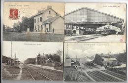 100 Gares  Avec Train Ou Sans Train Petite Gare Ou Grande Elles Sont Authetiques Aucune Reproduction - Gares - Avec Trains