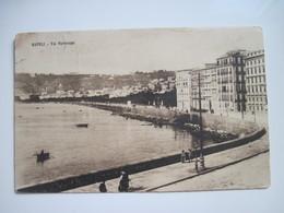 CPA ITALIE NAPOLI Via Partenope Début 1900  T.B.E. Animée - Napoli (Naples)