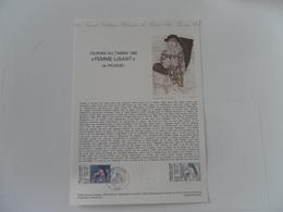 FRANCE DOCUMENT 12-82 YT 2205 JOURNEE DU TIMBRE 82 PICASSO - Documents De La Poste
