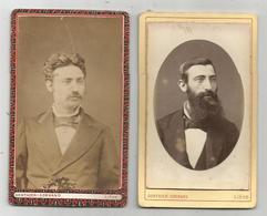 2 PHOTOS ANCIENNES CARTONNEES PHOTOGRAPHIE GONTHIER-CORNAND 12, BOULEVARD D'AVROY LIEGE 65X105 (SCAN VERSO) - Personnes Anonymes