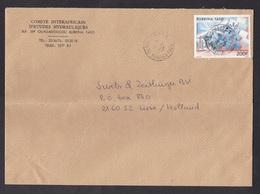 Burkina Faso: Cover To Netherlands, 1987, 1 Stamp, Wind Energy, Windmill, Mill (damaged: Fold) - Burkina Faso (1984-...)