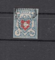 1851  N°17II  OBLITERE      COTE 160 FRS  VENDU à 10%  16.00 FRS.     CATALOGUE ZUMSTEIN - 1843-1852 Timbres Cantonaux Et  Fédéraux