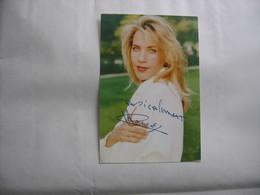 Chanson - Autographe - Carte Signée Corinne Hermès - Autographes