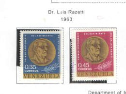 Venezuela PO 1963 Razetti    Scott.843+844 See Scans   On Scott.Page - Venezuela