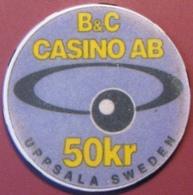 50Kr Casino Chip. Casino AB, Uppsala, Sweden. G81. - Casino