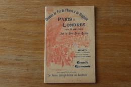 Livret   Chemins De Fer De L'ouest  Et De Brighton   Paris Londres En 9 Heures   1901 - Chemin De Fer