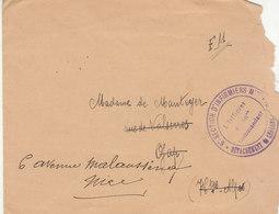 ESC FM 6è Section D'Infirmiers Détachement De Chalons Sur Marne 1916 - Marcophilie (Lettres)