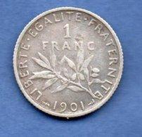 Semeuse   - 1 Franc 1901      --  état  TB+ - France
