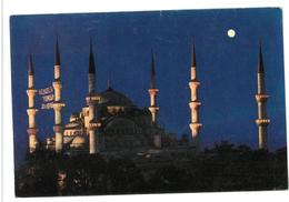 Turchia Istanbul A Night View Of The Bleu Mosque Non Viaggiata - Turchia