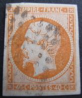 LOT FD/1712 - NAPOLEON III N°16a Orange Vif - 1853-1860 Napoleon III