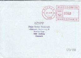 Macedonia - Cover  Sent To  Denmark  H-1335 - Macedonia