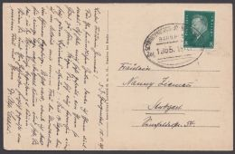 """Bahnpost, """"Schwarzenberg-  Johanngeorgenstadt"""", Bedarfs- AK, 1929 - Deutschland"""