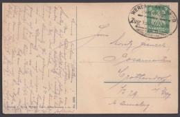 """Bahnpost, """"Werdau- Annaberg"""", 1924 Auf AK - Briefe U. Dokumente"""