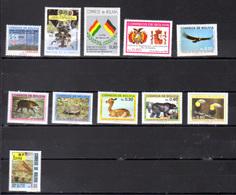 1985   Bolivie, Année 1985 Complète, Yv.654 / 662**, Cote 12 € - Bolivie
