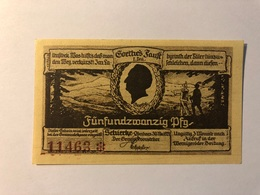Allemagne Notgeld Schiercke 25 Pfennig - [ 3] 1918-1933 : Weimar Republic